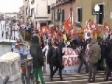Protesters Make A Splash In Venice