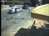 Palestinian Carjackers Takes Car In Gas Station While The Driver Is Outside