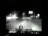Police Dash Cam Captures Fatal Wrong Way Crash