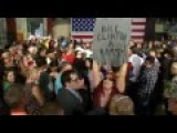 Protester Interrupts Bill Clinton With A 'Bill Is A Rapist' Sign
