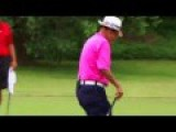 Pro Golfer Chi-Chi Rodriguez Hits His Ball