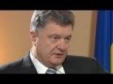 Poroshenko Interview In Canada On Intelligence Sharing