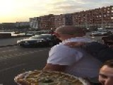 Pope Presented With A Pizza During Naples Visit