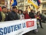 People In France Demand Tibet Independence