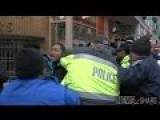 Police, Protesters, Bystanders Brawl At Trump Inauguration Checkpoint