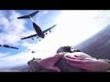 Paratroopers Jump From C-17 Globemaster III Planes