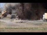 Powerfull Taliban IED Sends Afghan National Army MRAP Flying Through The Air