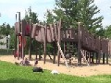 Parkour Frontflip Off Wood Playground Fail