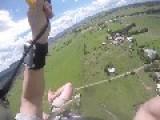 Paraglider Crash Lands Into Pond