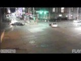 Police Car Runs Red Light Causing Accident