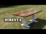 Pedestal Trestle Table