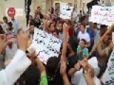 People In Ma'arat Al-Nu'man Demonstrate Against US-Arab-airstrikes And Praise Rebel- And Islamists-groups Like FSA, Ahrar Al-Sham Or Jabhat Al-Nusra