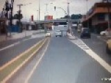 Pedestrian Gets Hit By A Bus In Panama