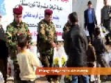 Peshmerga Forces Give Gifts To Refugee Children
