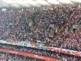 Poland Vs German - Polish Fans Sing National Anthem