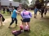 Principal Breaks Up Fight... Deals With Bully His Way