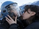 Protester Accused Of Sexual Violence After Viral Photo Of Her Kissing Italian Riot Officer