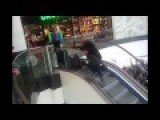 Polish Race For Free Burgers On Escalator