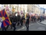 People In UK March To Demand Tibet Independence