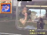 PICTURE Of Bus Passenger Giving Finger To Alex Jones!