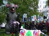 Protesters March Around World Bank After Civil Society Walkout
