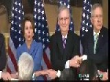 Prepare To Puke: GOP And Dem Leaders Hold Hands And Sing