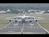 Parking A Worlds Most Longest Aircrafts Boeing 747-8 And Antonov An-124
