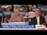 Protester Yells 'Bill Clinton's A Rapist' At Hillary Rally