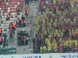 Polish Soccer Hooligans In Action