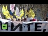 People March To Demand Peace And Justice In Ukraine