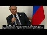 Putin Talks About The Stunts Obama Admin Is Up To