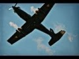 Pilatus PC-9 Conducts Intense WW2 Style Propeller Plane Dive Attack Close Air Support Strafing Runs