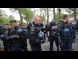 Police's Car Is Burnt By Mob In Paris