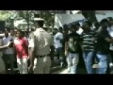 Police Clash With Film Industry Workers
