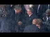 President Obama Shook Hands With President Raúl Castro