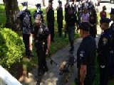 Police Officers Salute Sick K-9 Colleague On Farewell Walk To Vet