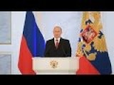 Putin Delivers Annual Address To Federal Assembly In Moscow Simultaneous Translation