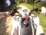 Quad Rider Falls Off ATV