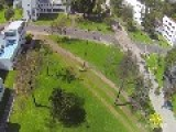 Quad Copter Drone Aerial Footage Guerrillas Vs Police Bogota Colombia