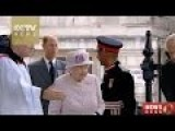 Queen Elizabeth II In UK Celebrates Victory Over Japan