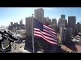 Quadcopter Drone Flying Around San Francisco