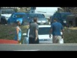 Road Rage Fight In Parking Lot