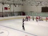 Russian Hockey Player Breaks Stick Over Girls Head