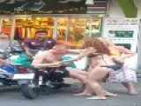 Russian Gentleman Having A Little Trouble In Pattaya