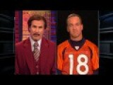 Ron Burgundy Interviews Peyton Manning