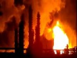 Russian Oil Refinery Catches Fire