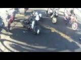 Red Light Jumper Hits Biker