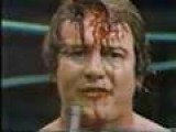 Roddy Piper Smashes Beer Bottle On Head. Nice Blood Flow