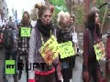 Russia: Anti-fur Animal Rights Activists Rally In St. Petersburg
