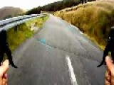 Riding A Bicycle At 93 Km H On An Irish Back Road